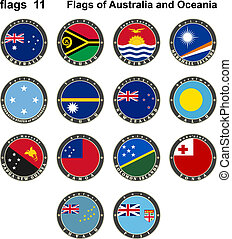 Flags of Australia and Oceania. Flags 11.