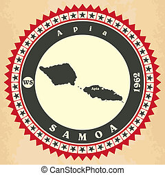 cartelle, vendemmia,  Samoa,  label-sticker