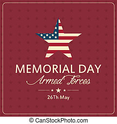 Memorial Day - abstract memorial day background with special...