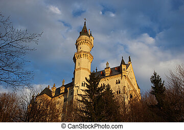 Neuschwanstein Castle is a nineteenth-century palace built...