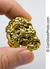 One Ounce California Gold Nugget - One troy ounce California...