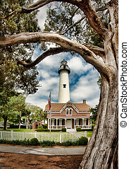 St Simons Island Lighthouse located in Georgia