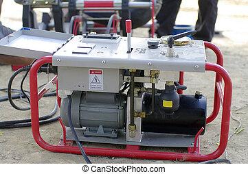 construction pump machine - red construction pump machine
