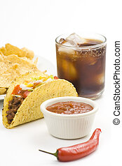 delicious taco, mexican food