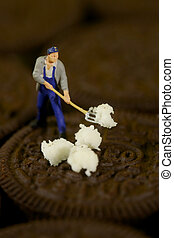 Plastic People Cleaning Up a Messy Cookie - Miniature...