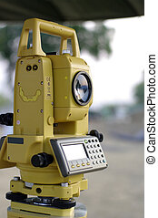 construction and engineering tool, total station -...