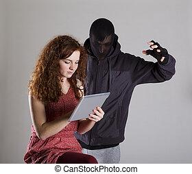 Internet danger - Concept of potentional internet danger...