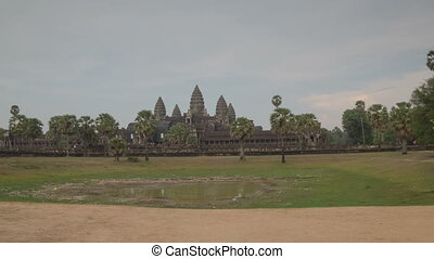 Angkor Wat temple hyperlapse - Angkor comple, Siem Riep