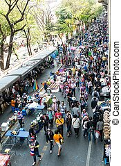 BANGKOK - FEBRUARY 2: Large crowd of Thailands protest...