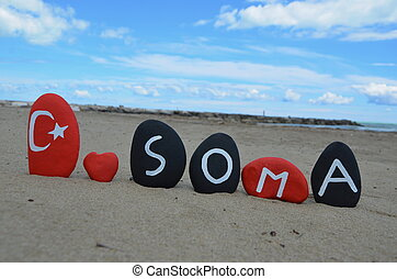 Soma,Turkey, stones souvenir - Soma is a town and district...