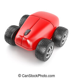 3d Computer mouse with wheels