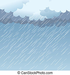 Rain as a background, vector illustration