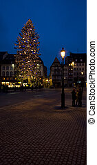 Place Broglie, Christmas time in Strasbourg, Alsace, France