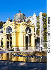 Colonnade with Singing fountain, Marianske Lazne...