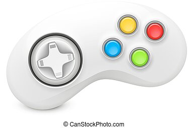joystick abstract vector illustration background with shadow...