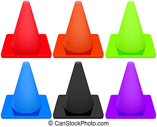 traffic cone isolated abstract vector illustration eps10