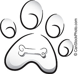 Dog Paw Icon - Icon Illustration Featuring the Paw of a Dog...