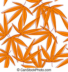 Seamless background with orange withered leaves