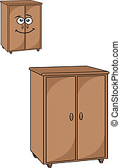 Two wooden cupboards