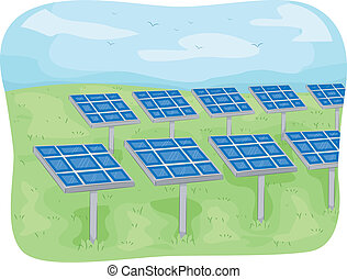 Solar Panels - Illustration Featuring Solar Panels in an...