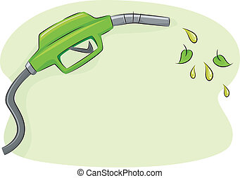 Biofuel - Illustration Featuring a Gas Pump Nozzle Spouting...
