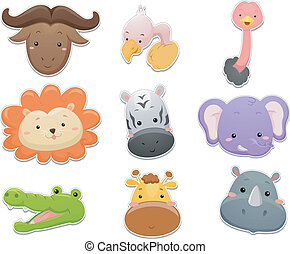 Safari Animals Set