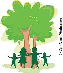 Family Tree Icon - Icon Illustration Featuring the Outline...