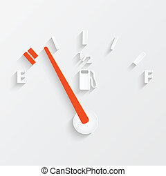 Gas Gage - Illustration of a gas gage concept with shadows.