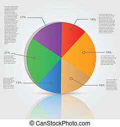 Pie Chart - Illustration of a business pie chart with...