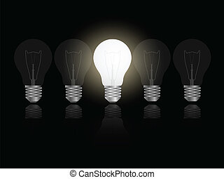 Light Bulbs Illustration - Illustration of light bulbs...