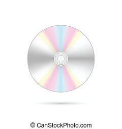 CD Illustration - Illusration of a compact disc isolated on...