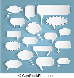 Paper Chat Bubbles Illustration - Illustration of various...