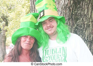 Couple dressed for St Patricks day