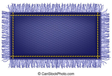 Jeans fabric with fringe