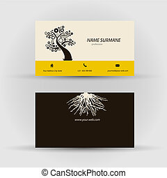 Business card - Set of modern vector business card template...