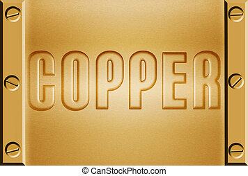 copper metal background - copper metal background with bolts...