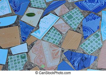 floor tiles background textures in the park