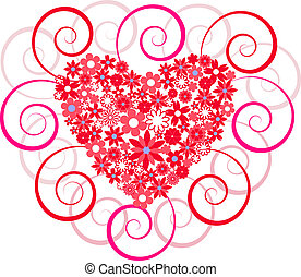 heart filled with flowers - hearts filled with flowers on...