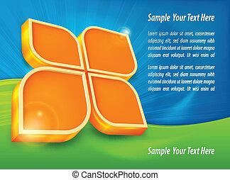 Info graphic in orange color