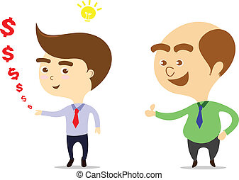 boss is happy that businessman can