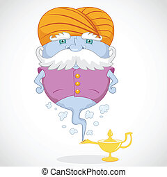 Magic Genie appear from magic lamp