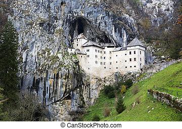 Predjama Castle in Postojna Cave, Slovenia