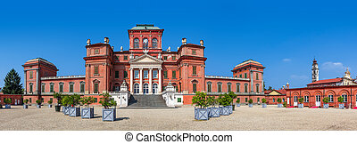 Racconigi castle panoramic view - Facade of Racconigi palace...
