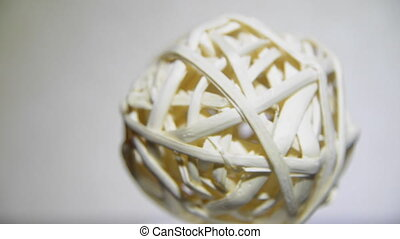 rattan ball gossip - abstract woven rattan Shore Jewelry