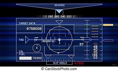 Radar GPS navigation screen display,computer game interface,hi-tech software
