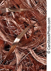 Scrap copper wire background