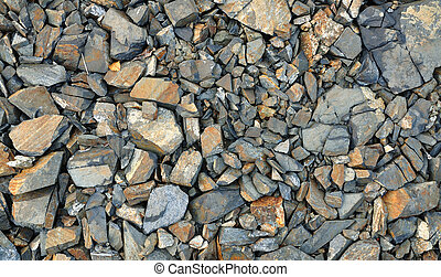 Texture Background of Crashed Slate stone