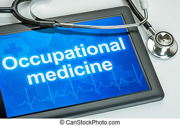 Tablet with the text Occupational medicine on the display