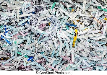 Shredded Paper Background