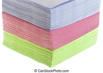 paper napkins - a paper napkins on the white backround